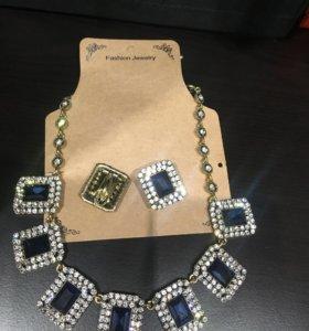 Ожерелье и серьги в наборе