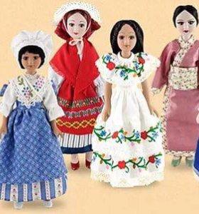 Фарфоровые куклы сувенирные