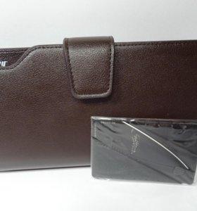 Мужской клатч и нож-кредитка в комплекте