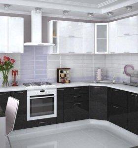 Кухонный гарнитур (чёрный/белый)