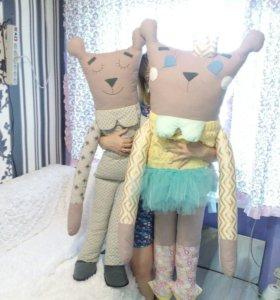 Текстильные игрушки-обнимашки(ручная работа)