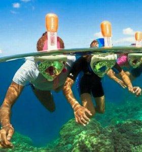 Маска для плавания/ныряния  FREE BREATH + доставка