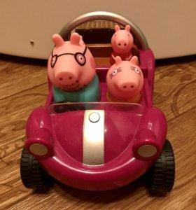 Машина с семьёй свинки Пеппы