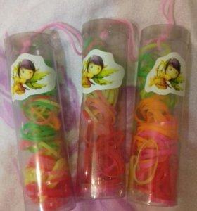 Резинки силиконовые для волос упаковка 50 шт