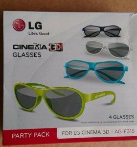 Очки Cinema 3D LG новые, комплект