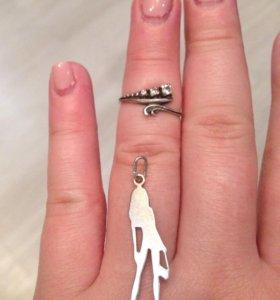 Кольцо,кулон по 150р серебро