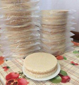 Вафельные заготовки для тортов