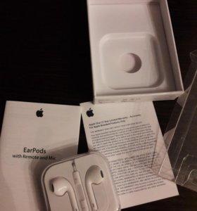 Earpods Apple гарнитура наушники новые