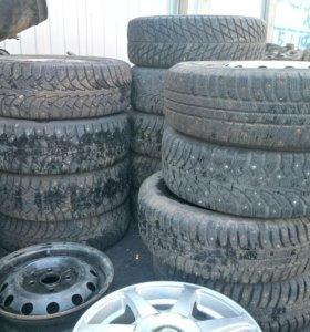 3 комплекта зимних колес Р14 4х100