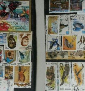 Коллекция марок ссср (около 400 шт.)