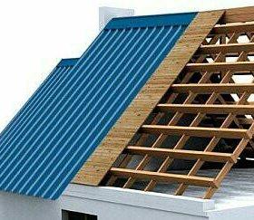 Крыша из профнастила (за материал)