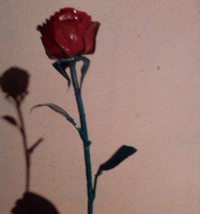 Роза из метала под заказ