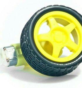 Мотор 1:48 с редуктором и колесом