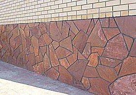 Облицовочный камень Лемезит для цоколя