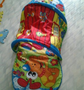 Детский коврик-тунель. Юла в подарок.