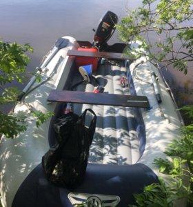 Ладка флагман 360 u мотор HDX 18