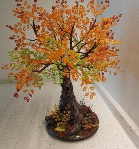 Бисерное денежное дерево