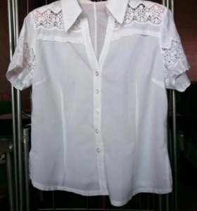 Блуза белая р 48