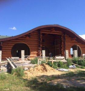 Ручная рубка домов из бревна