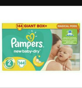 Pampers New Baby-Dry (размер 2) 3-6кг, 144шт
