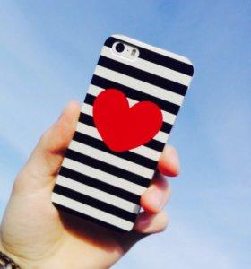 Чехол для IPhone 5/5s, 6/6s ❤️