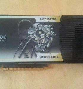 Видеокарта XFX 9800 GX 2 на запчасти