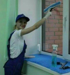 Глажка, мытье, лоджий, витрин, разбор хлама