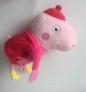Мягкая игрушка свинка Пеппа.