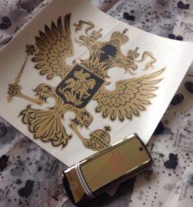 Наклейка герб РФ