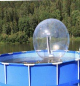 Зорб с бассейном