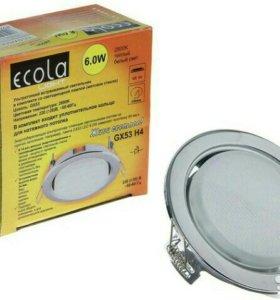 Светильник Ecola с лампочкой светодиодной 6W GX53