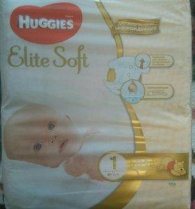 Подгузники Huggies Elite Soft 1до 5кг-84шт