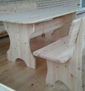 Стол+2 скамьи