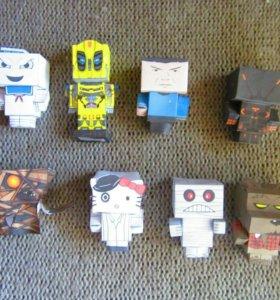 Паперкрафт персонажи фильмов модели papercraft