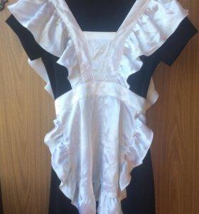 Школьный фартук +платье
