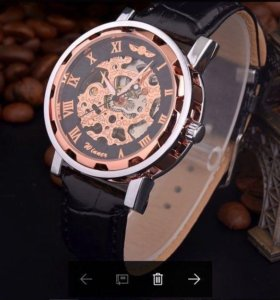Часы ⌚️ Winner Skeleton - Bronze