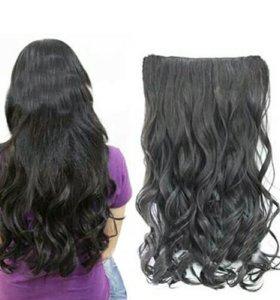 Волосы на заколках, 55 см.