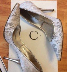 Свадебные кружевные туфли Casadei (оригинал)