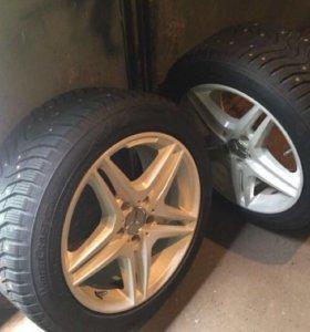 Комплект диски-шины шипованные Mercedes 225/50 R17
