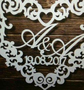 Монограмма на свадьбу