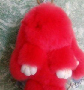 Брелок -Зайчик красный.