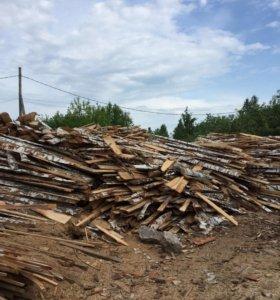 Березовый горбыль срезка дрова
