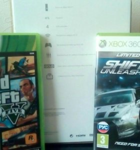 Xbox 360 E +GTA5+SHIFT2