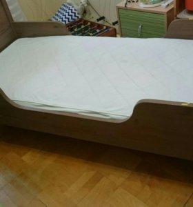 Кровать с матрасом икея