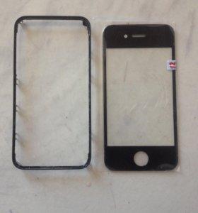 Стекло + рамка iPhone 4s