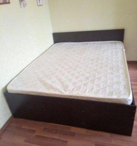 Кровать новая 140х200 с матрасом