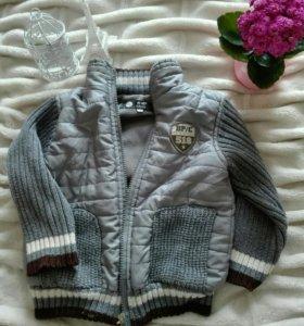 Курточка вязанная 92