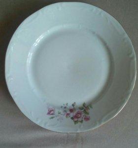 Тарелка фарфоровая, клеймо