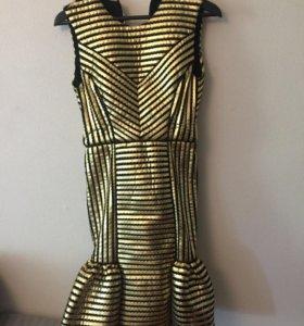 новое золотистое платье Maje оригинал