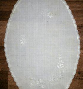 Симпатичная салфетка лен вышивка